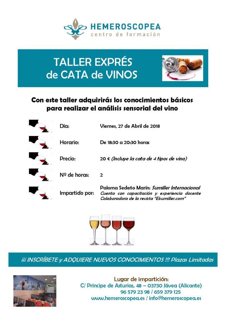 Taller Cata Vinos, Abril 2018 (1)