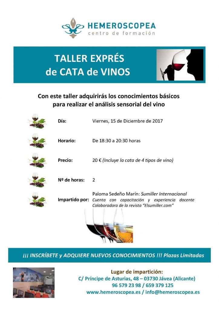 Taller Cata Vinos Diciembre 2017