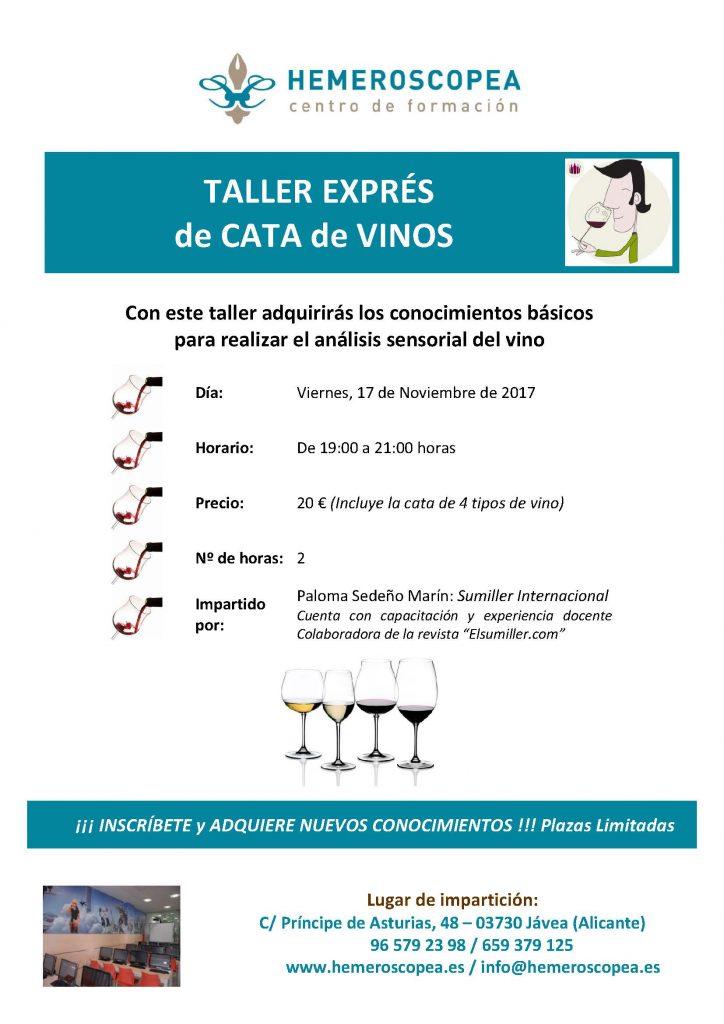 Taller Cata Vinos, Noviembre 2017